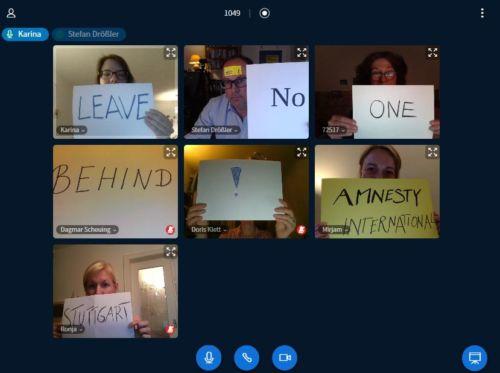 Aktionsblid #LeaveNoOneBehind